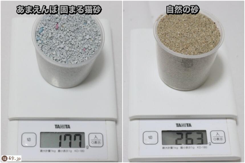 あまえんぼ 固まる猫砂(砂の重さ)