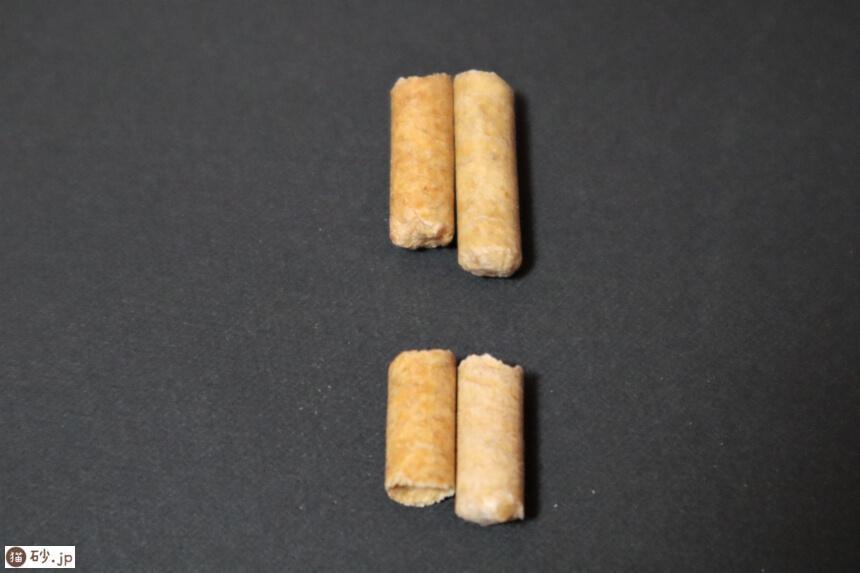 パインウッドとパインのトイレ砂のチップを比較