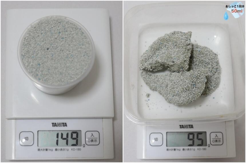 コンパウトサンドDXの砂の重さ