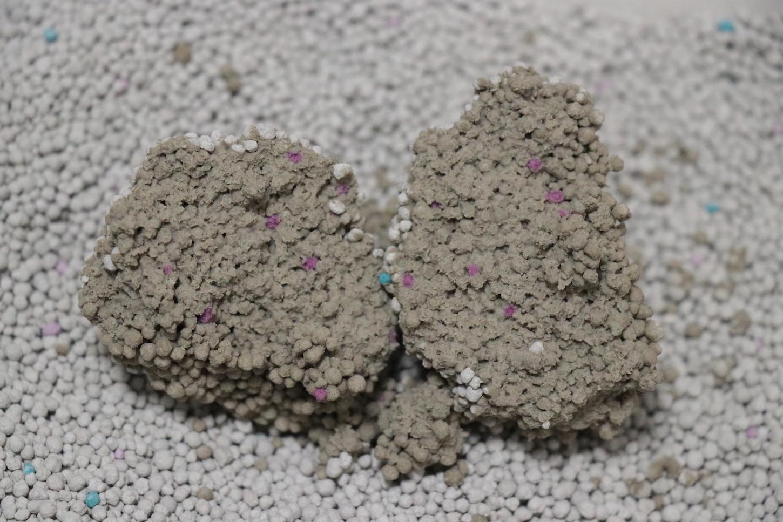 LIFELEXベントナイト固まる猫砂ふんわりソープの香り(固まり具合)